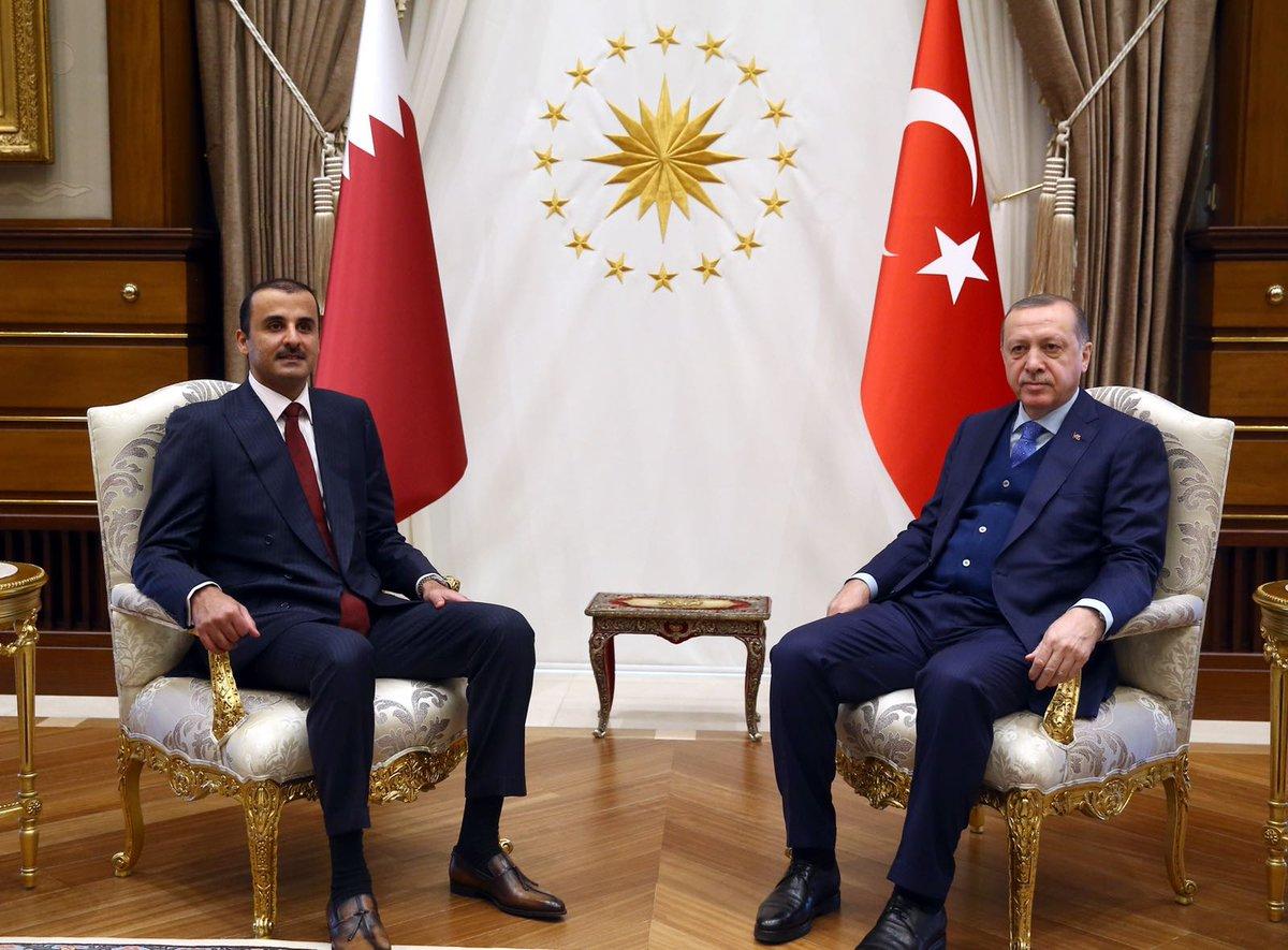 Эмир Катара прилетел в Турцию