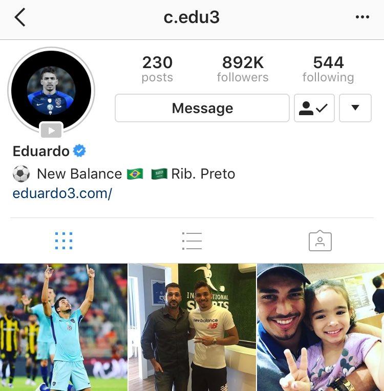 السوبر إدواردو قام بتوثيق حسابه عبر الإن...