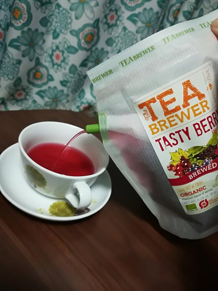 この前買ったこの紅茶、パックの中に直で湯を入れてそのままポットに出来る最高の優れものなんだよ!!一パックで6杯位出るしそのまま捨てれる!!