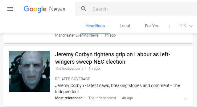 Google news is really making me question my political allegiance.