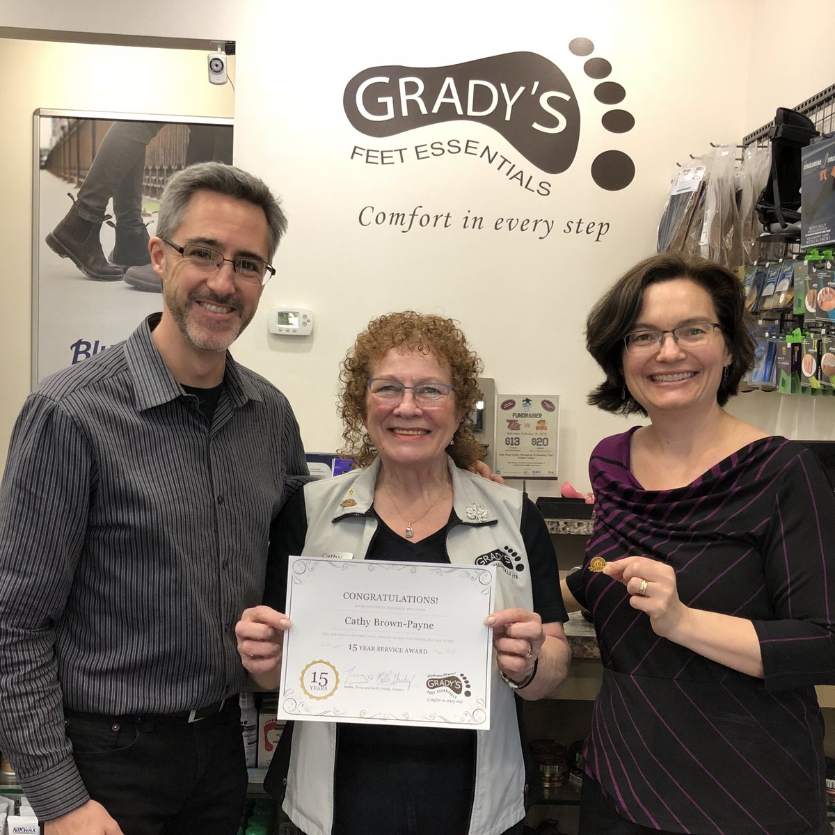 test Twitter Media - Congratulations to our longest serving staff member, Cathy Brown-Payne, who received her *15 Year* Service Pin yesterday! 🎉 #ThankYouForBeingAwesome @LansdownePlace #PTBO https://t.co/oqH3aoWDLe