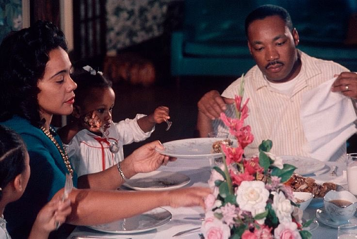 A beautiful moment. #MLK #CorettaScottKi...