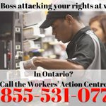 If you're being intimidated, abused, or having benefits clawed back at work, call the Workers' Action Centre @workersac at 1-855-531-0778. The number is good across Ontario. #minimumwage #15andFairness #IStandWithTimHortonsWorkers