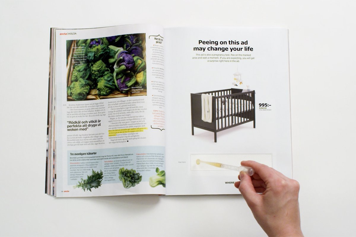 Pee on this @IkeaUSA ad to find out if you're pregnant (and get a discount): https://t.co/D7p45UyB45 https://t.co/LItoOSuGih