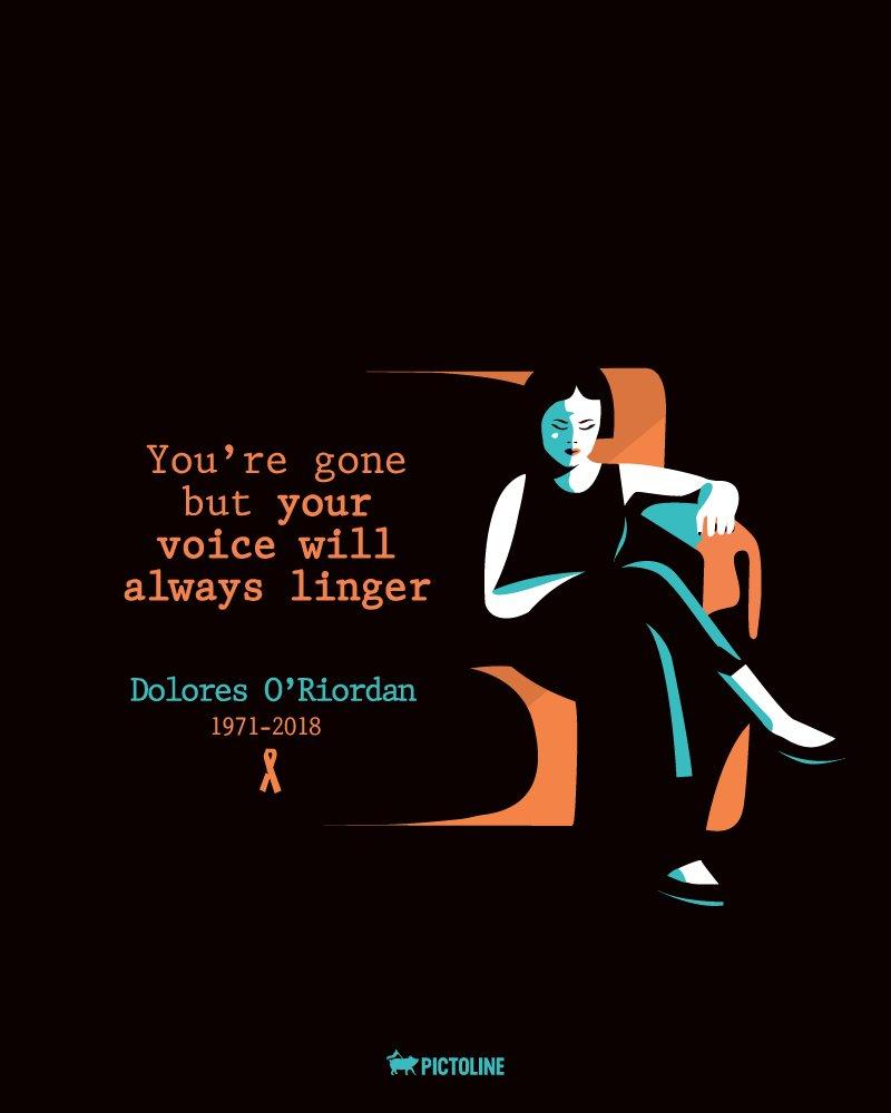 RT @pictoline: Dolores O'Riordan, vocalista de The Cranberries, falleció hoy. Thank you for everything 😔 https://t.co/czkznVZbzt