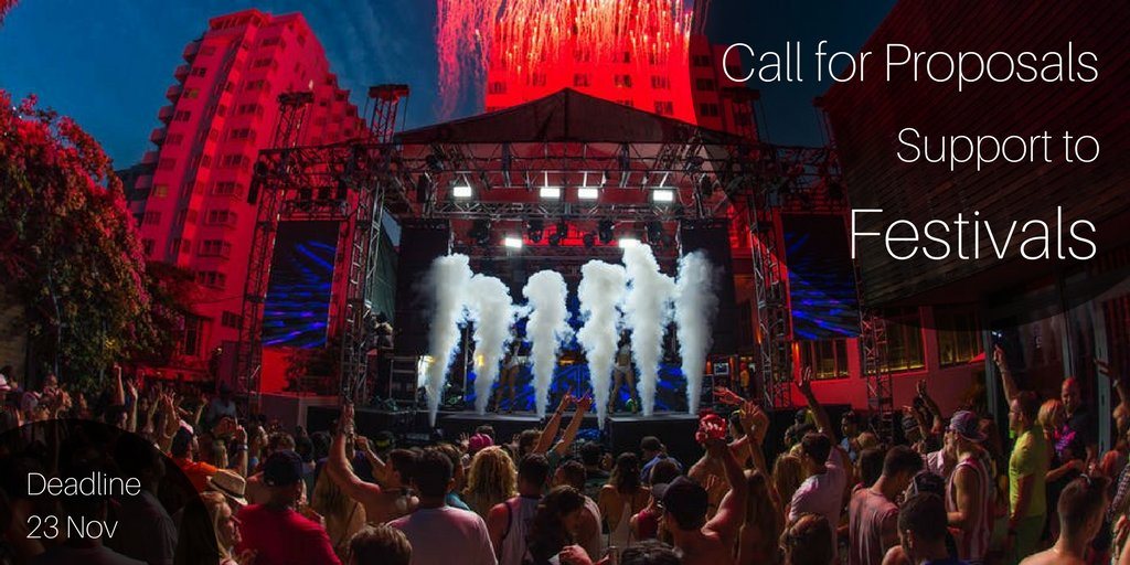 Open call – Support to European #festival s. Deadline: 24 April. https://t.co/g0rWWA8Uhi https://t.co/lEbqZB25Nw