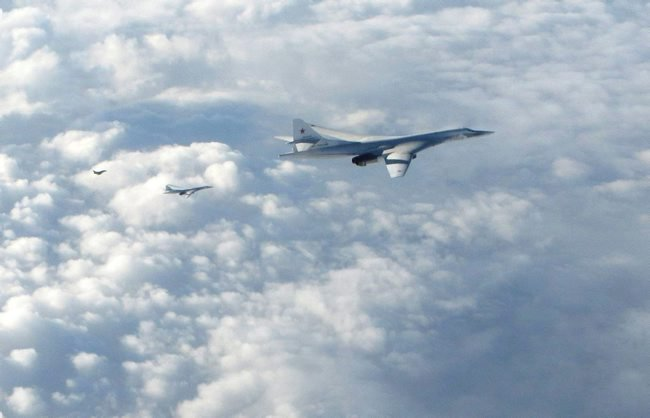Photos of RuAF Tu-160s intercepted in international airspace over the North Sea