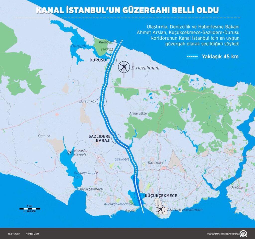 Эрдоган анонсировал строительство Стамбульского канала