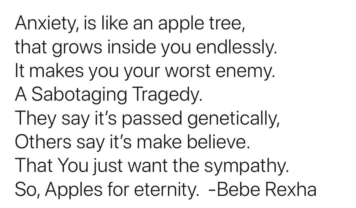Anxiety is like an Apple Tree 🍎 https://...