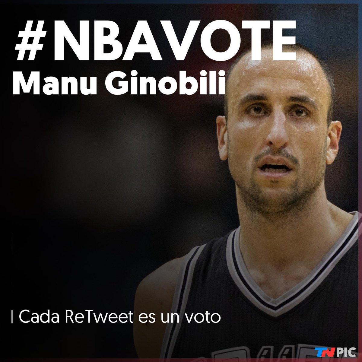 Último día para votar a @manuginobili en los #NBAAllStars   ☛ Cada RT es un voto   #NBAVote Manu Ginobili