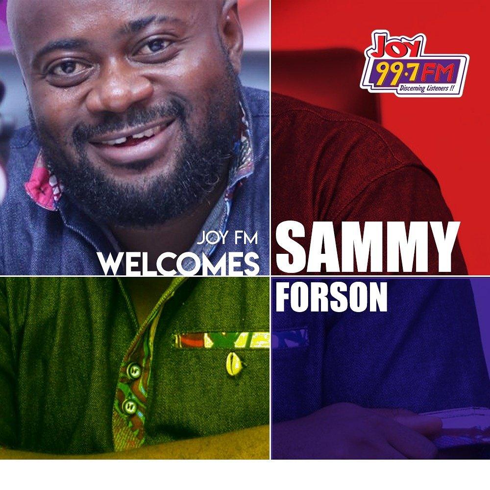 Welcome to Joy 99.7 FM @SammyForson.  #J...
