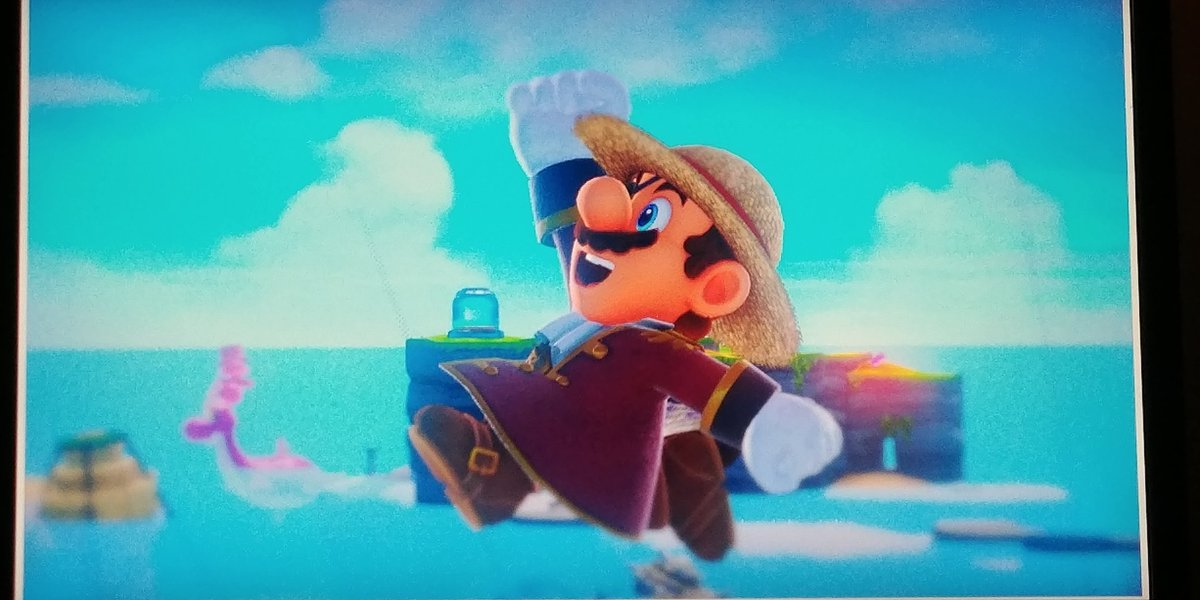 Don't give it up, Straw Hat Mario, someday you'll be king of the pirates. #SuperMarioOdyssey #OnePiece