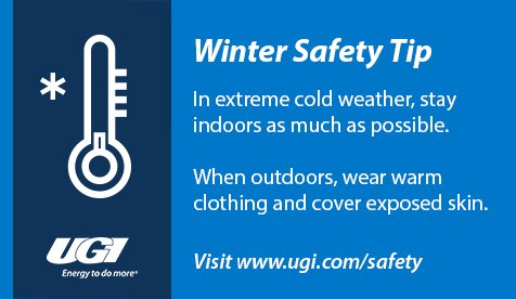 "test Twitter Media - UGI reminds residents to stay safe and be ""winter wise"" this season. For more #safetytips, visit us online at https://t.co/Qv63ZmiDfr https://t.co/59ZDa3AvGH"