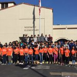 Our students with Anahiem High boys and girls soccer teams participating in the Servathon to keep our community clean. @AnaheimElem