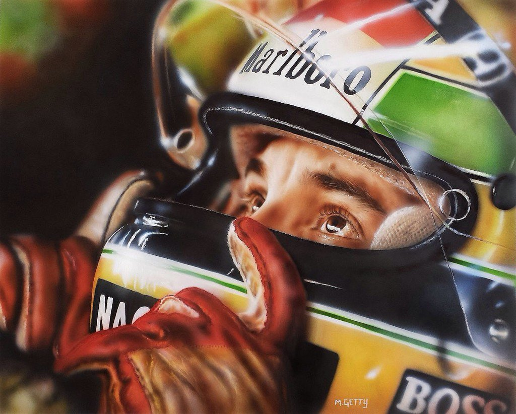 Ayrton. Acrylic on paper, 51 x 41cm by @...