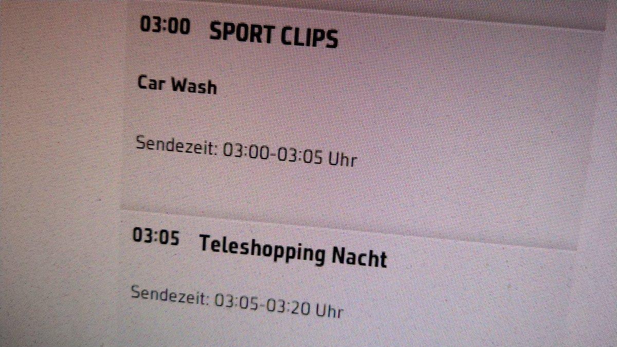 sport clips nachts