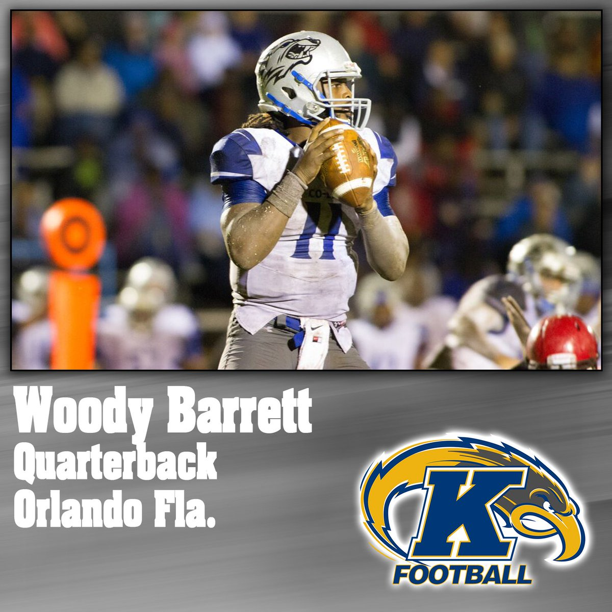 SIGNED | Congrats to @WoodyB_1 for signing with @KentStFootball!