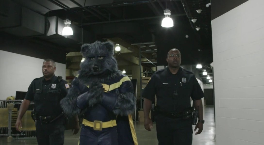 The Grizzlies mascot really walked to th...