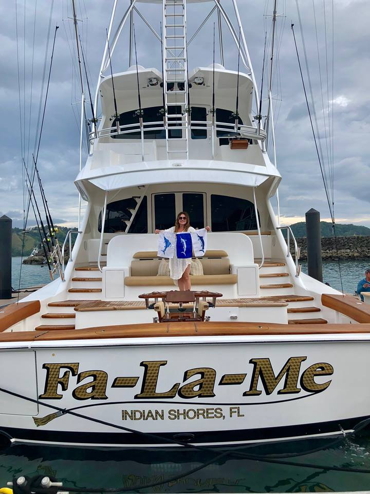 Los Suenos, CR - Fa La Me released a Grand Slam going 6-9 on Sailfish, 1-1 on Blue Marlin and 1-2 on Striped Marlin.
