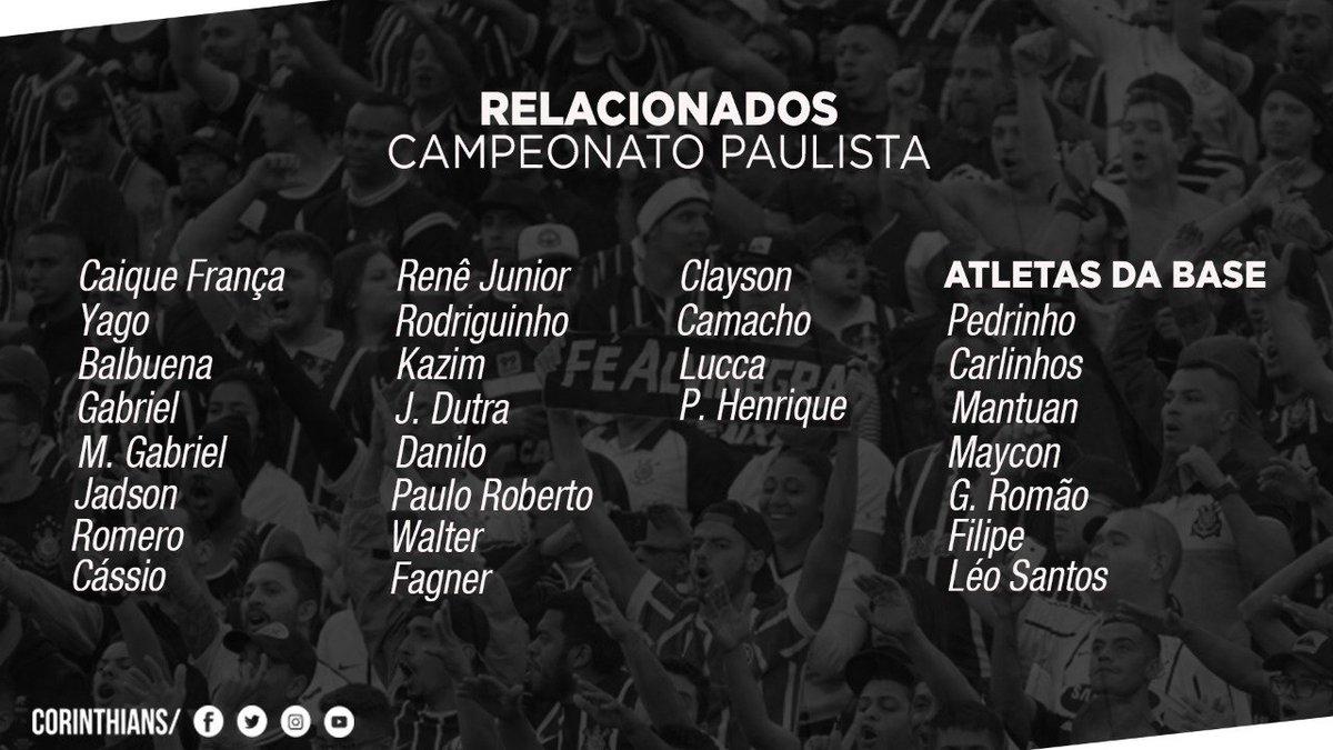 Os inscritos do #Corinthians para o #Pau...