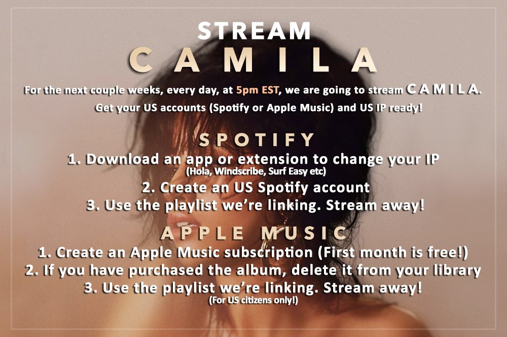 Get ready to #StreamCAMILA with us in 30...