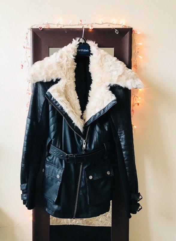 b5c43b0ce682 Size 8 / S for £30.00!@vinted #riverisland #fauxleatherandfurjacket  #size8jacketforsale #opentooffersonprice #womensitemsforsale  #clothingforsale ...