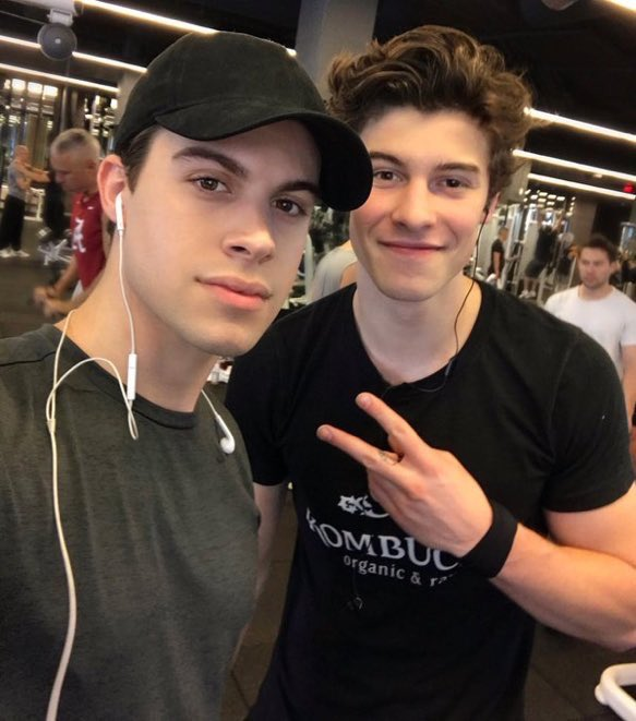 Shawn with a fan recently at the gym in...