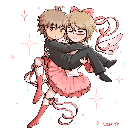 A thing for the danganronpa secret santa on tumblr! :3c (gif version can be seen there)