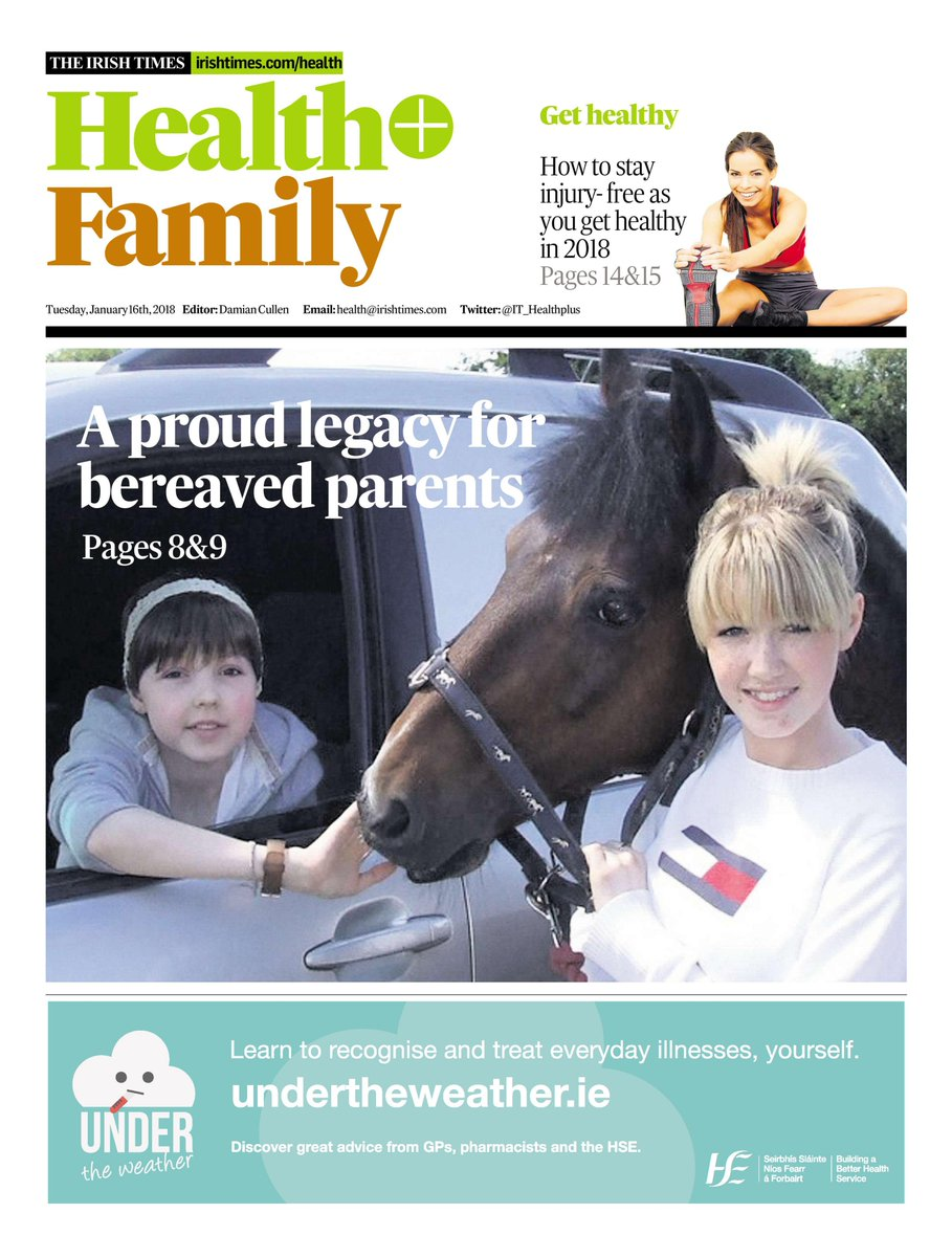 Depressing and uplifting story in Tuesday's @IrishTimes about the two sisters pictured on front of @IT_HealthPlus Supplement.