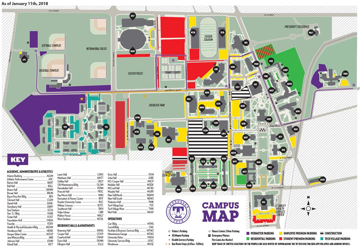 Tennessee Tech Campus Map Tennessee Tech on Twitter: