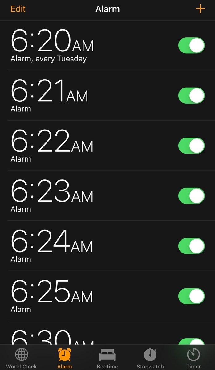 Chiaramente ho il terrore di non sveglia...