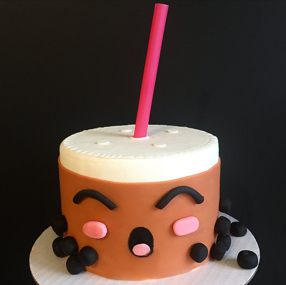 Duff S Cakemix On Twitter This Cake Is Boba Tea Riffic