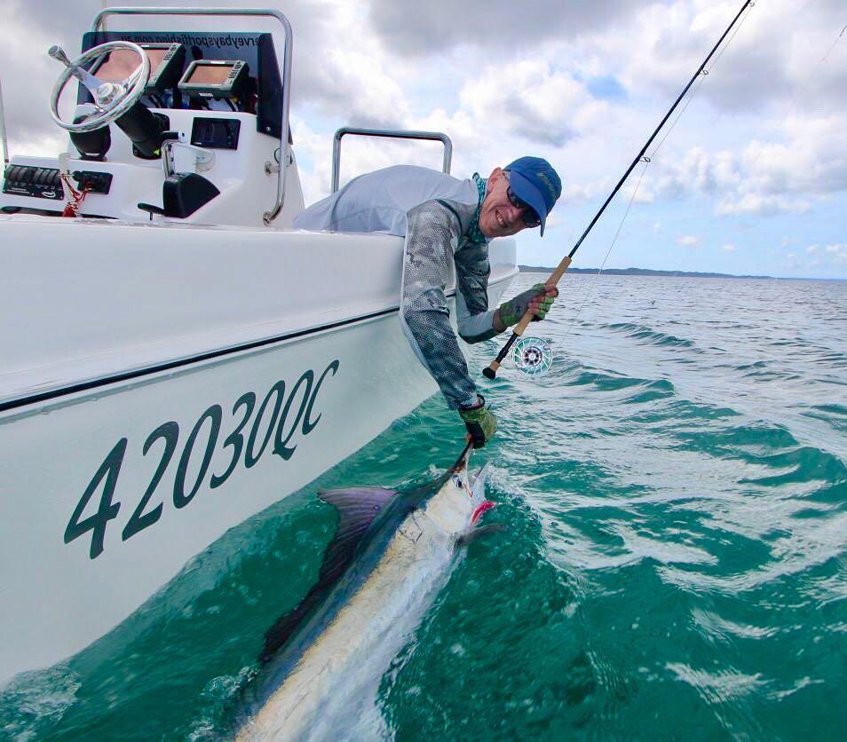 Fraser Island, Aus - Hervey Bay Sportfishing went 2-3 on Black Marlin on Fly.
