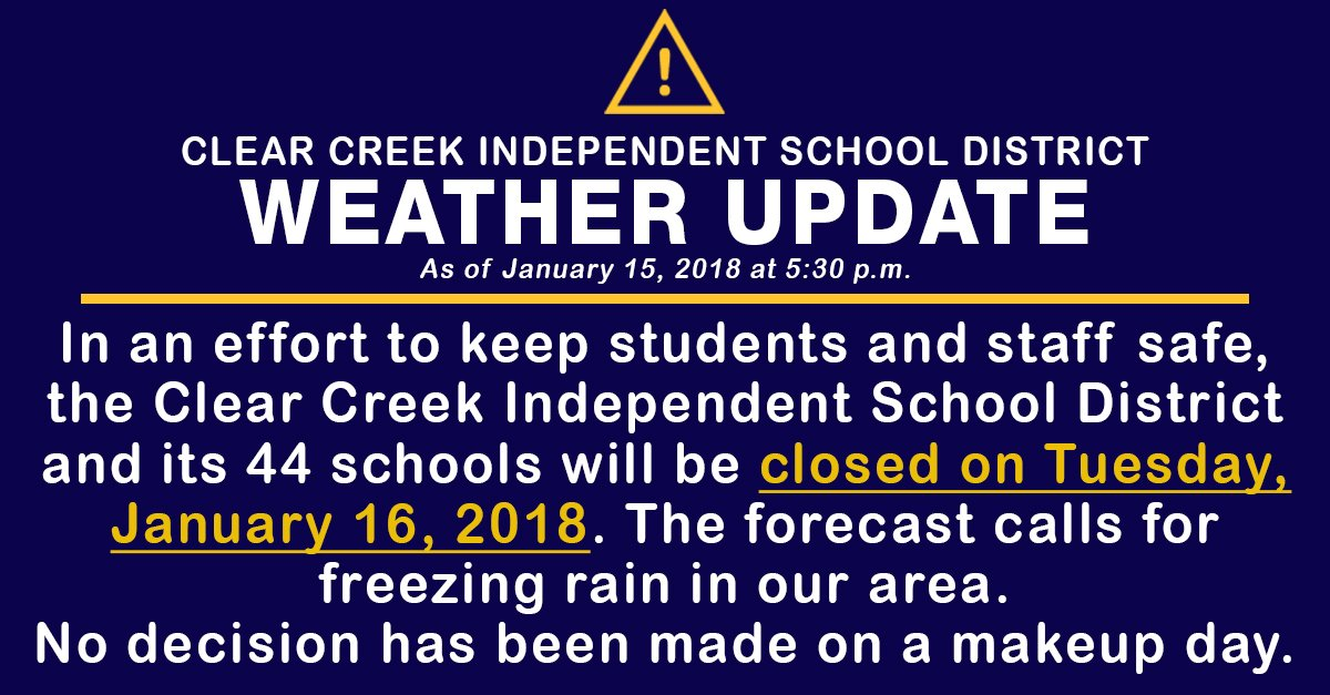 clear creek isd on twitter in an effort to keep students and staff