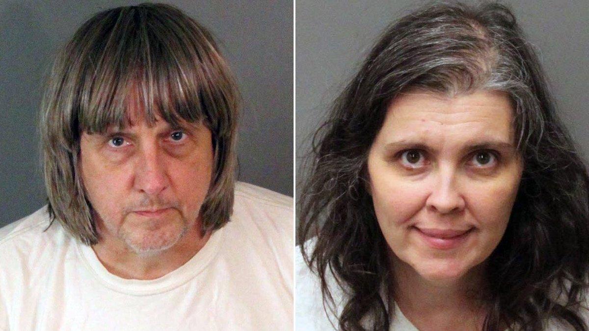 Hallan a 12 hermanos encadenados en California