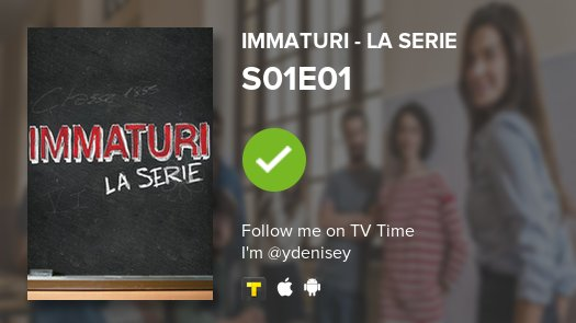 I've just watched episode S01E01 of Immaturi - la se...! #immaturilaserie  #tvtime https://t.co/twa6gYcgoW https://t.co/dKSMrspS3i