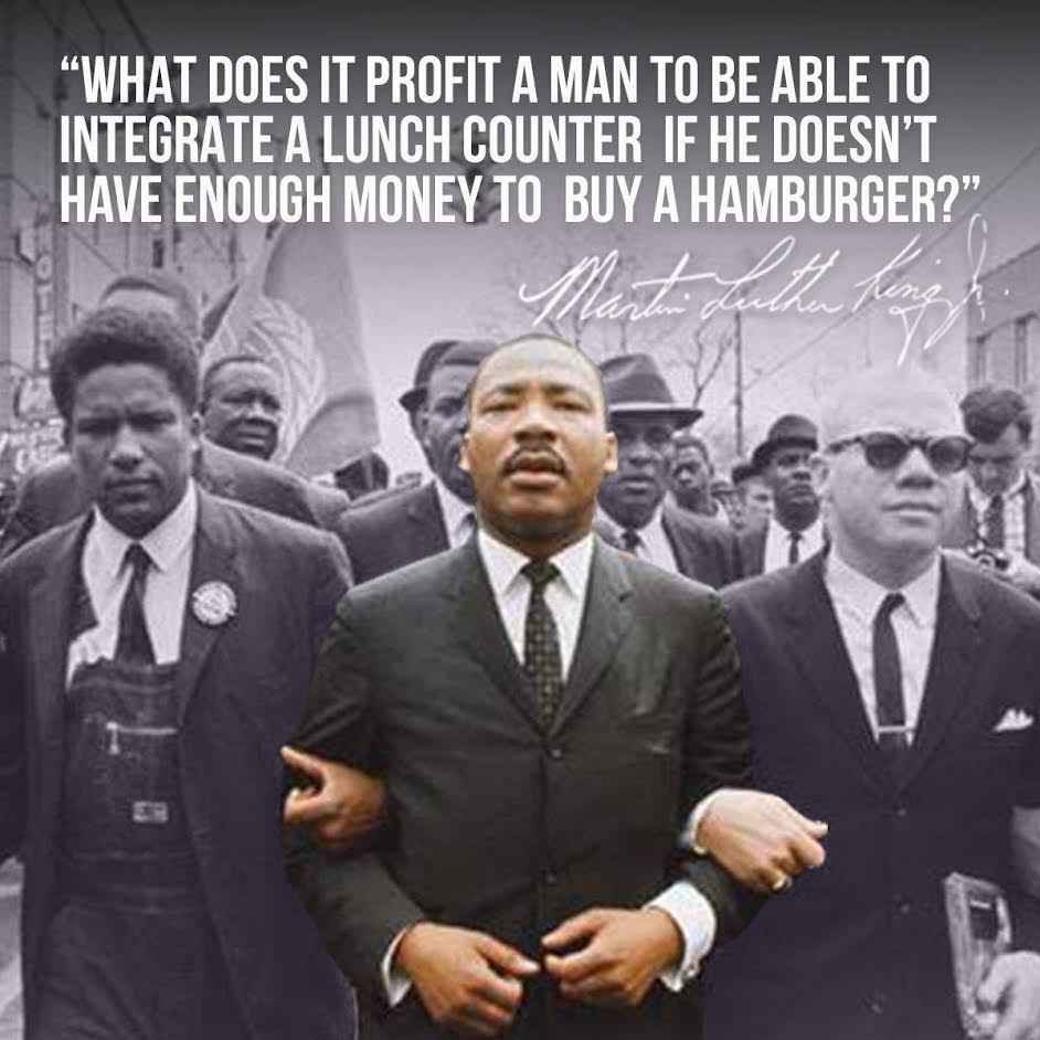 Economic justice cannot be separated from racial justice.