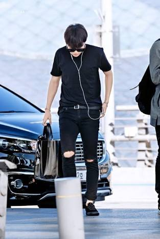 hoseok in all black outfits breathe if u...