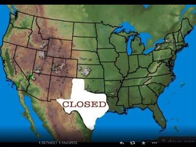 Texas is closed until at least Wednesday afternoon.  #texasweather #WinterStormWarning  <br>http://pic.twitter.com/PJWaIfegVH