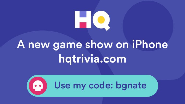 I'm playing a game called @hqtrivia! You...