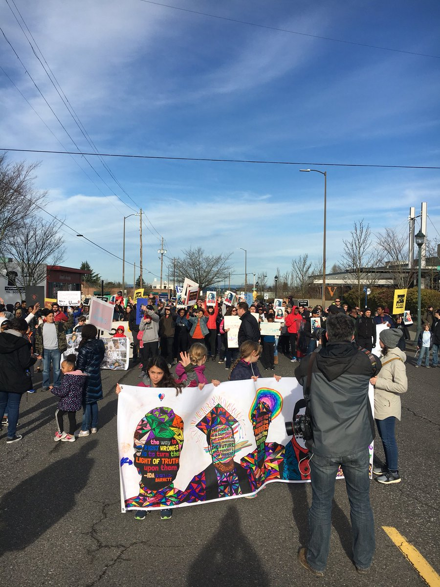 Our 4th annual Reclaim King March led by...