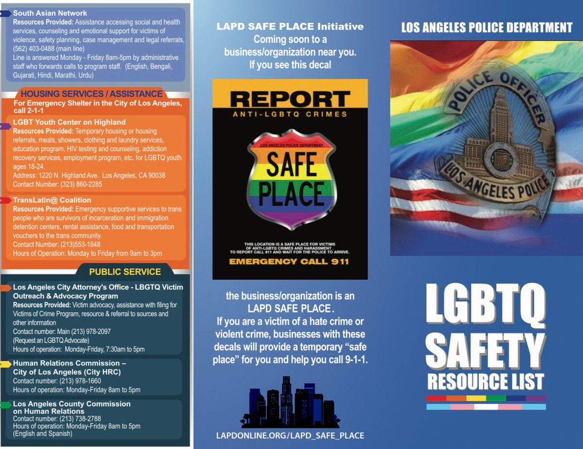 lapd hq on twitter the mission of the lapd safe place is to