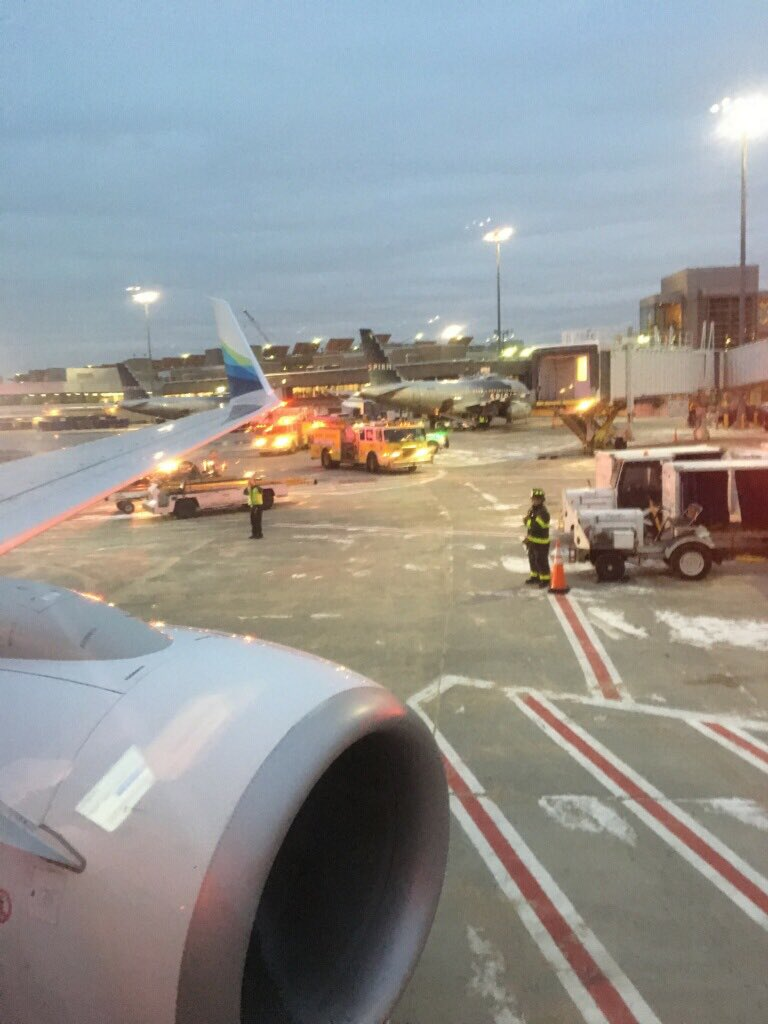 Alaska Airlines Airplane Crashes Into De Icing Truck