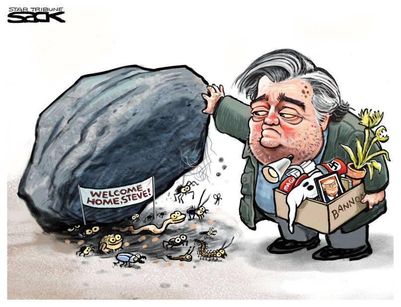 """Stop Trump 🍷 on Twitter: """"#RacistInChief should crawl under the rock with # Bannon. No place in the #WhiteHouse for a #racist #ShitholePresident…  https://t.co/t4qc8R9VJs"""""""