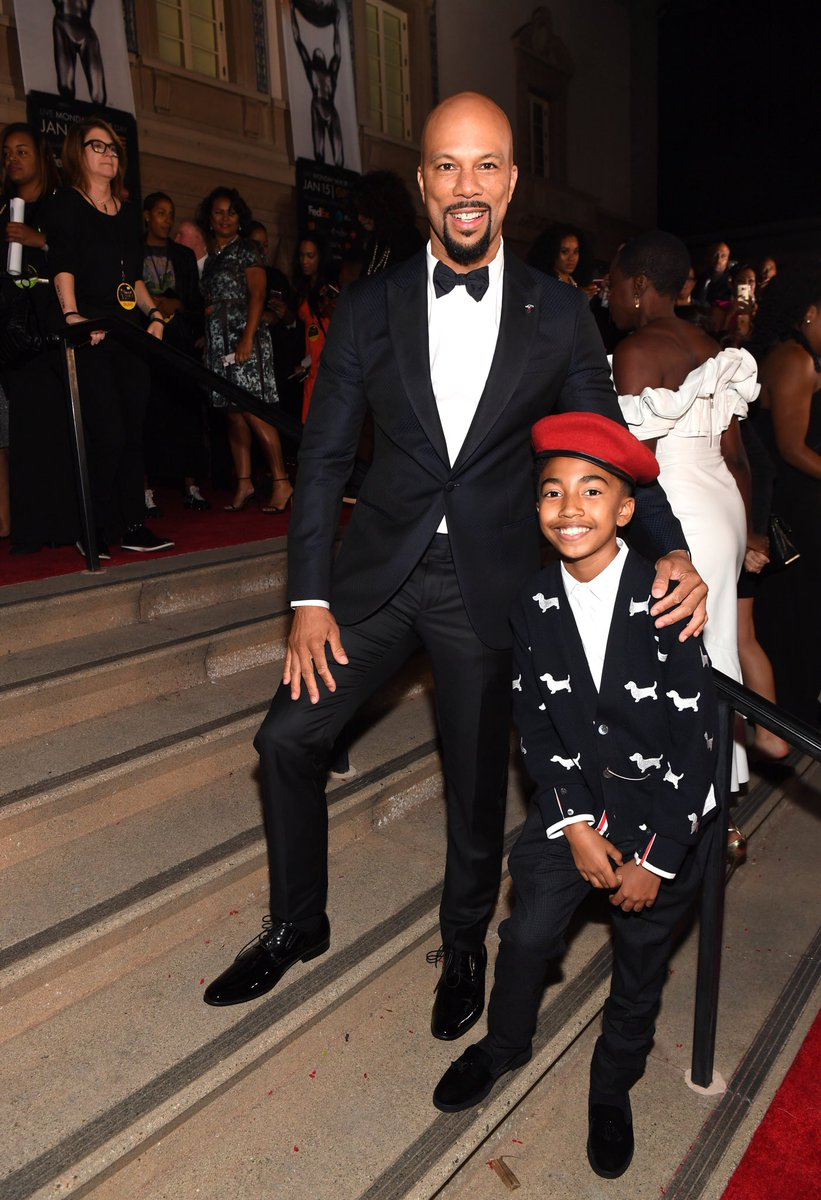 @common & @MilesBrown are serving #BlackBoyJoy at the #ImageAwards 💕👌🏾