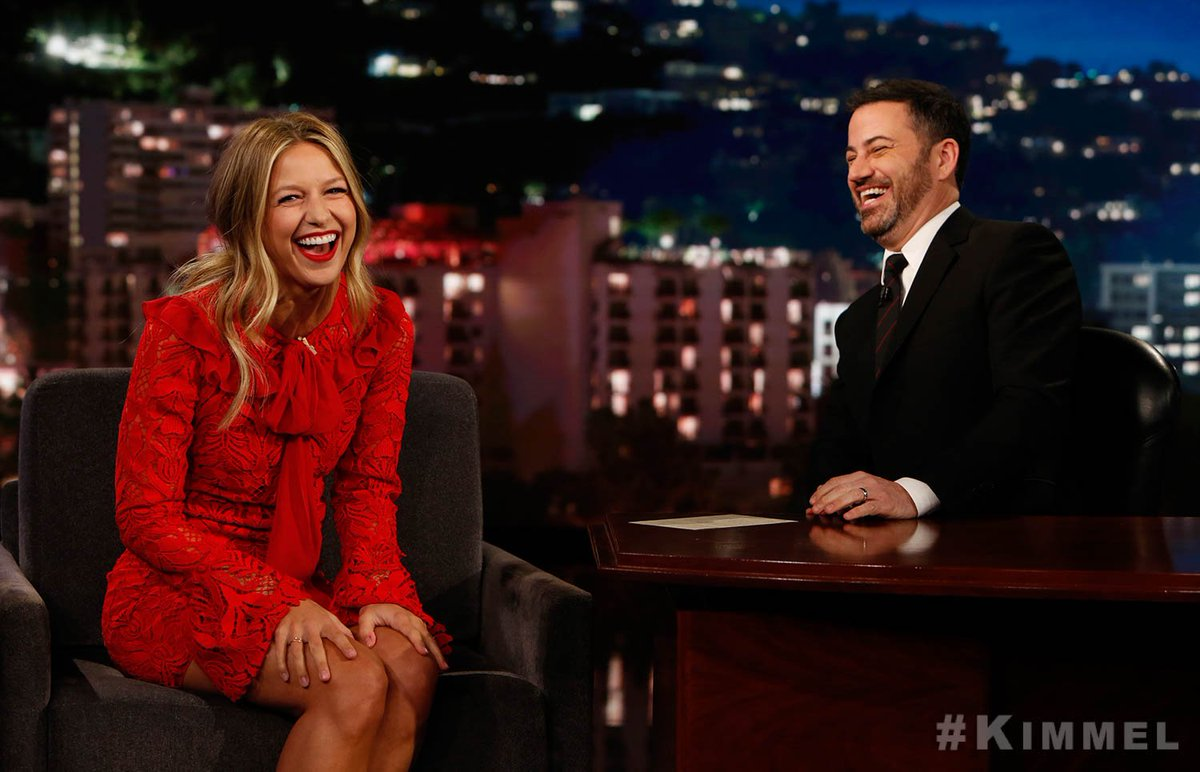 Jimmy Kimmel Live's photo on #Supergirl