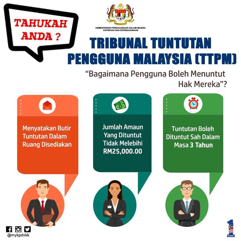 Uzivatel Mykpdnhep Na Twitteru Macam Mana Untuk Buat Tuntutan Di Tribunal Tuntutan Pengguna Malaysia Ttpm Jom Baca Kpdnkk Caringministry Tahukahanda Aduan Pengguna Https T Co Zdjn55sok7