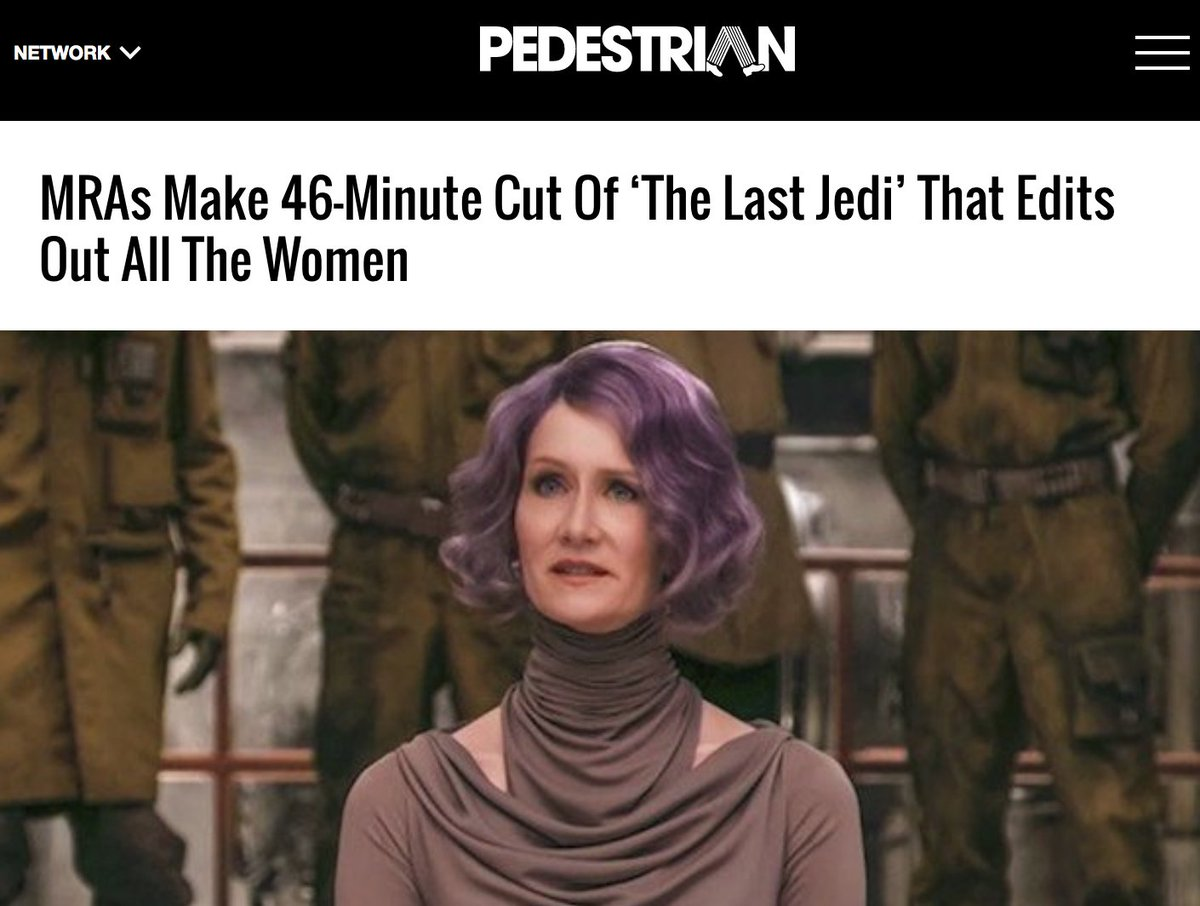 Someone Edited 'The Last Jedi' To Make A 'Chauvinist Cut' Without Women