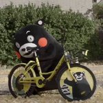 先日くまもとで、ボクのイラストが入った自転車にボクも乗ってみたんだモン! pic.twitter.c…