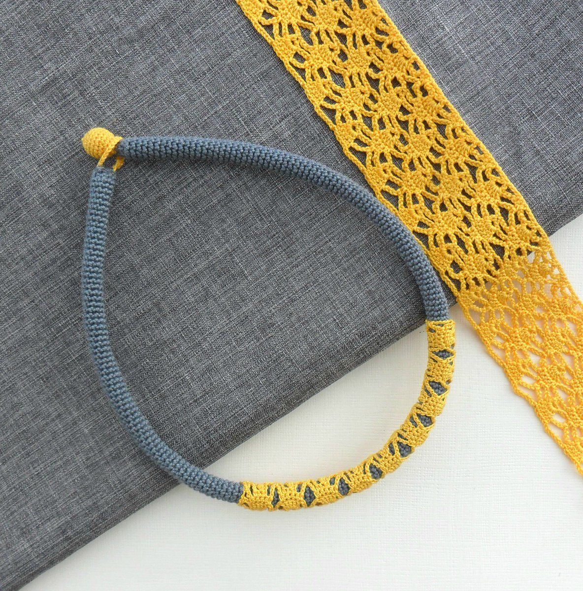 Check out this crochet necklace at https...